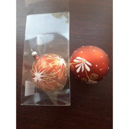 Glob sticla 60 mm, reflector 5 buc. Diferit decorat