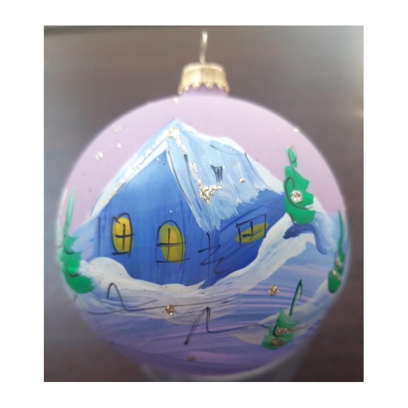 Glob sticla clopoțel 4 buc. Diferit decorat
