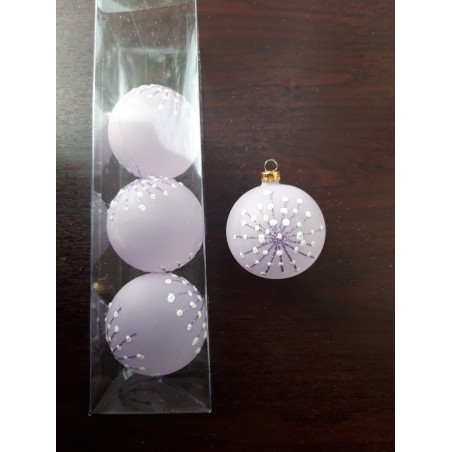 Glob sticla 80 mm, 2 buc. Diferit decorat