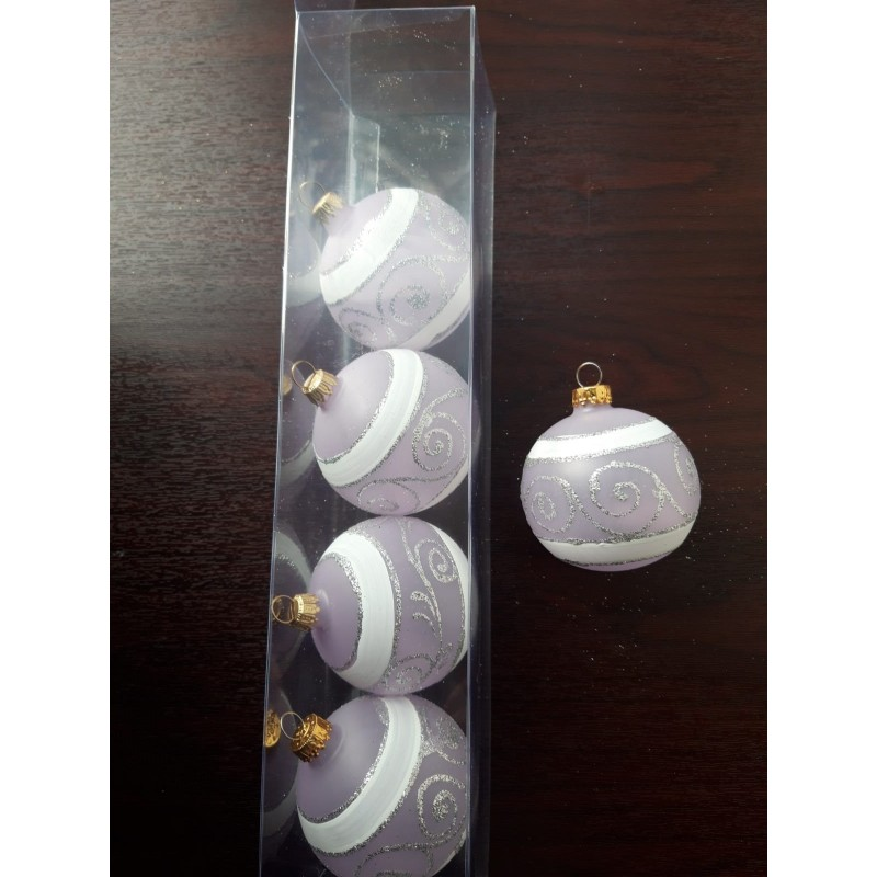 Glob sticla 100 mm, 1 buc.       Diferit decorat
