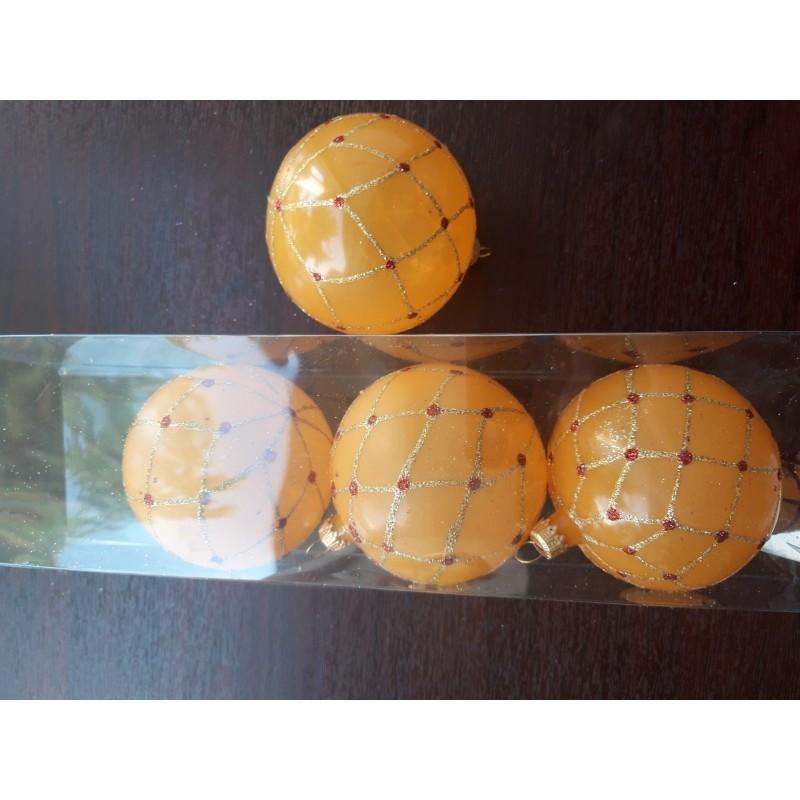 Glob sticla 60 mm, 5 buc. Diferit decoart